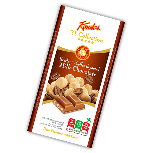 Hazelnut with Coffee Flavored Milk Chocolate 120g